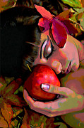 Apple Digital Art Originals - Eve by Byron Fli Walker