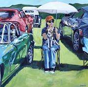 Antique Automobiles Painting Framed Prints - Eve Framed Print by Deb Putnam