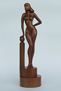 One Of A Kind Sculpture Prints - Eve Print by Jakob Wainshtein