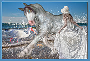 Inspire Metal Prints - Eve of the Horse Metal Print by Betsy A Cutler East Coast Barrier Islands