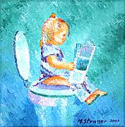 Toilet Painting Originals - Evelyn by Michelle Strasser
