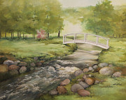 Becky Paintings - Evelyns creek by Becky West