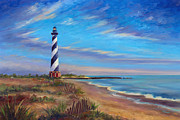 Hatteras Paintings - Evening at Cape Hatteras by Jeff Pittman