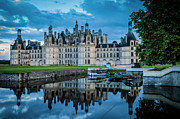 Castle Photos - Evening at Chateau Chambord by Brian Jannsen
