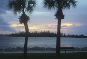 St. Lucie County Prints - Evening at Fort Pierce Inlet Print by Megan Dirsa-DuBois