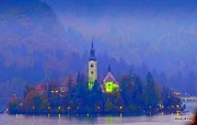 David Kovac - Evening at Lake Bled