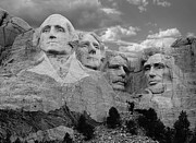 Mount Rushmore Photos - Evening at Mt. Rushmore  by Merja Waters