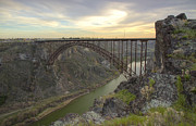 Arched Bridge Posters - Evening at Perrine Poster by Idaho Scenic Images Linda Lantzy