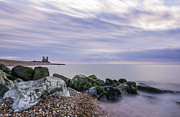 Sunset Seascape Framed Prints - Evening at Reculver Framed Print by Ian Hufton