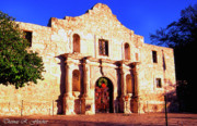 Alamo Art - Evening at the Alamo  by Thomas R Fletcher