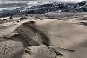 Colorado Sand Dunes Framed Prints - Evening At The Dunes Framed Print by Adam Jewell
