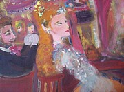 Stage Painting Originals - Evening at the theatre by Judith Desrosiers