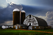 Old Barns Prints - Evening Blessing Print by Debra and Dave Vanderlaan