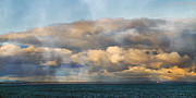 Atlantic Ocean Posters - Evening Clouds Over the Atlantic Poster by Betsy A Cutler East Coast Barrier Islands