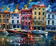 Leonid Posters - Evening dream - PALETTE KNIFE Oil Painting On Canvas By Leonid Afremov Poster by Leonid Afremov