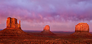 Navajo Tribal Park Framed Prints - Evening in Monument Valley Framed Print by Rick Barnard