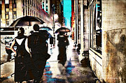 Lynda Payton Prints - Evening In The Rain Print by Lynda Payton