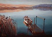 Pier Pastels - Evening Lake by Marion Derrett