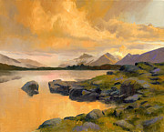 Alaska Lake Prints - Evening Light Print by Douglas Girard