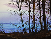 Watercolor Artist Prints - Evening Light Print by James Williamson