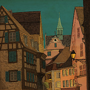 Alsace Prints - Evening Print by Meg Shearer