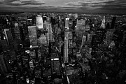 Manhaten Prints - Evening Night View Of North East Manhattan  New York City Skyline Night Print by Joe Fox