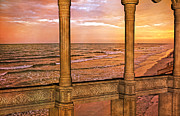 Ancient Ruins Prints - Evening Ocean  Print by Betsy A Cutler East Coast Barrier Islands