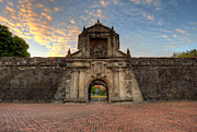 Manila Photos - Evening on Fort Santiago Manila Intramuros Philippines by Fototrav Print