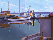 Gary Giacomelli Art - Evening on Malaspina Strait by Gary Giacomelli