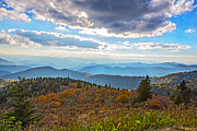 Smokey Mountains Paintings - Evening on the Blue Ridge Parkway by John Haldane