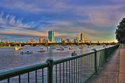 Fenway Park Prints - Evening on the Charles Print by Joann Vitali