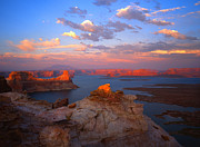 Lake Powell Prints - Evening on the Lake Print by Ray Mathis