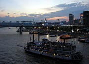 River Scenes Photos - Evening On The River 2 by Mel Steinhauer