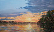 Reflecting Water Paintings - Evening on the River by Kathleen McDermott