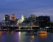 Cityscapes Photo Prints - Evening On The River Print by Mel Steinhauer