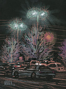 Lights Pastels - Evening Parking by Donald Maier