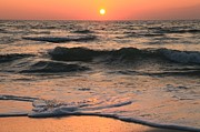 Sandy Beaches Prints - Evening Pastels Print by Adam Jewell