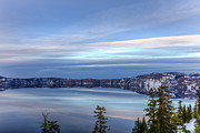 Crater Lake Sunset Prints - Evening Peace at Crater Lake Print by Loree Johnson