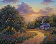 Live Oak Trees Paintings - Evening Praise by Kyle Wood