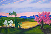 Stonewall Painting Originals - Evening Redbud by Annie Horkan