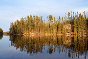 Calm Waters Prints - Evening Reflections on Snipe Lake 21 Print by Larry Ricker