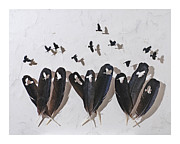 Crows Reliefs Posters - Evening Rush Hour Poster by Chris Maynard