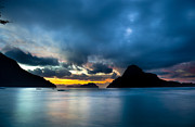 Palawan Prints - Evening seascape on El Nido Palawan Philippines Print by Fototrav Print