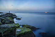 Galveston Metal Prints - Evening Stillness Metal Print by Thomas Zimmerman