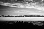 Manhaten Prints - Evening Sunset View Of Lower Manhattan New York City Print by Joe Fox