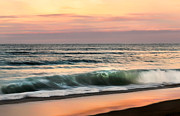 Sunset Scenes. Prints - Evening Surf Print by Bill  Wakeley