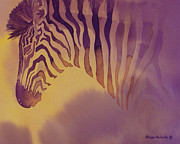 Zebra Art - Evening Thoughts by Alison Nicholls
