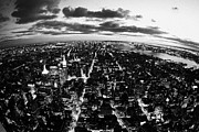 Manhatan Prints - Evening View Of South Manhattan And Sunset Lower New York City Print by Joe Fox