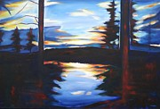 Sheila Diemert Metal Prints - Evening View Metal Print by Sheila Diemert