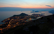 Seacoast Posters - Evening View Toward Dubrovnik and the Dalmatian coast Poster by Kiril Stanchev